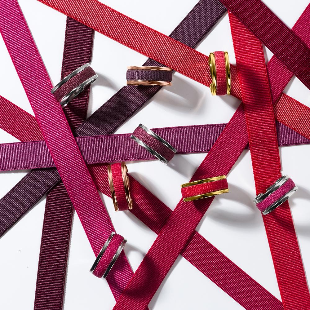 bagues ruban ajustables et interchangeables