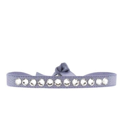 BRACELET NEW FULL STRASS ROND - Lilas Clair - Cristal
