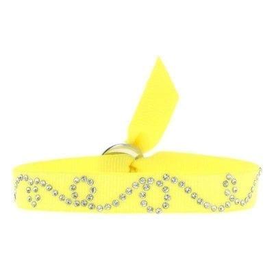 BRACELET SPIRALE 9 - Jaune Fluo - Cristal