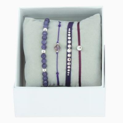 Strass Box Mini Glam SS17 - Violet - Cristal
