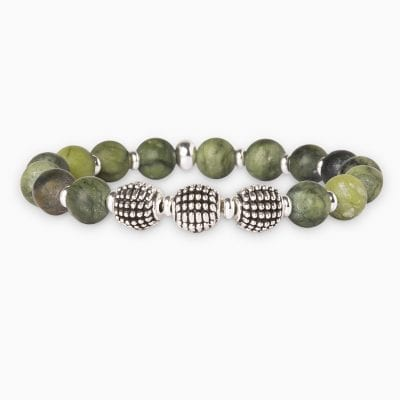 Bracelet Perle Planeta - Kaki - Palladium