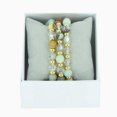 Strass Box Trio Sparkle - Gris 48 - Or Jaune