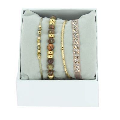 Strass Box Nameless - Beige Rose 3 - Or Jaune/Golden Shadow
