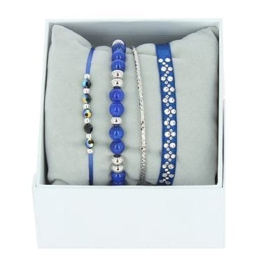 Strass Box Nameless - Bleu 84 - Palladium/Cristal