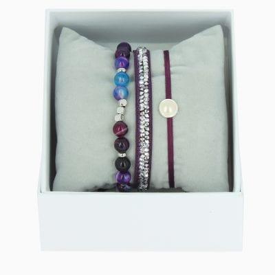 Strass Box Fine Rocks SS17 - Violet Fonce - Cristal
