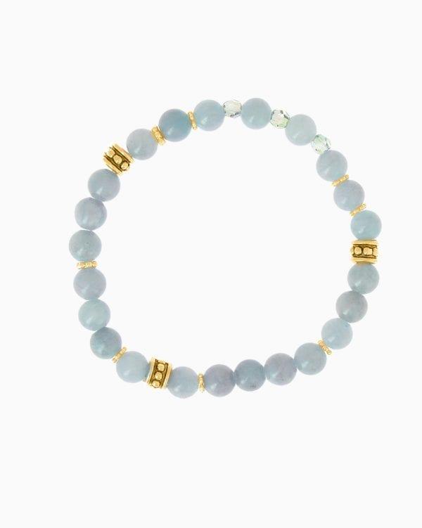 Bracelet Bobo Chic - Bleu Ciel - Or Jaune