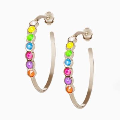 Créoles Rainbow - Palladium - Multicolore Fluo