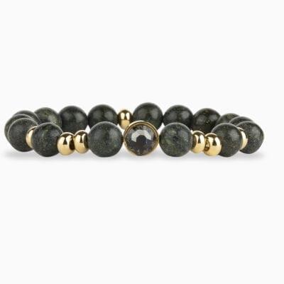 Bracelet Perle L'Audacieux - Noir 140 - Or Jaune