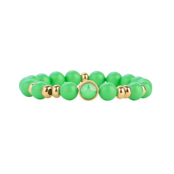 Bracelet Perle L'Audacieux Fluo - Vert Fluo - Or Jaune