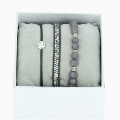 Strass Box L'Adorable - Gris 3 - Cristal