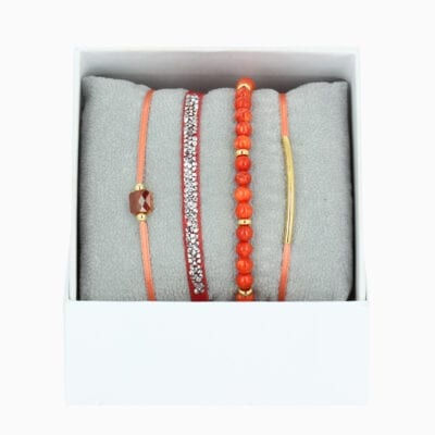 Strass Box La Re-Belle - Corail - Or Jaune