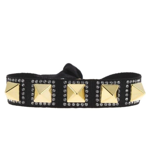 Bracelet Pyramide 8 - Noir - Gold