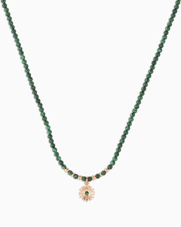 Collier Perle Soleil - Noir 140 - Or Rose