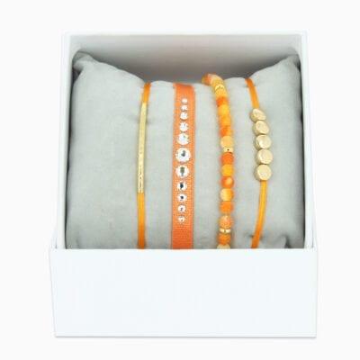 Strass Box Glam - Orange 2 - Or Jaune
