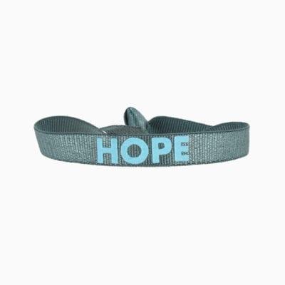 Bracelet hope - Bleu Gris 2 - Bleu Ciel