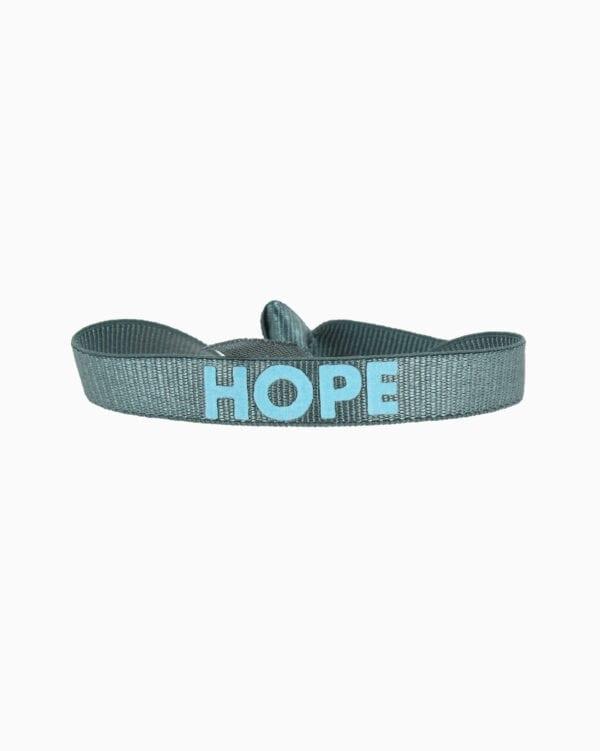 Bracelet Message HOPE - Bleu Gris 2 - Bleu Ciel