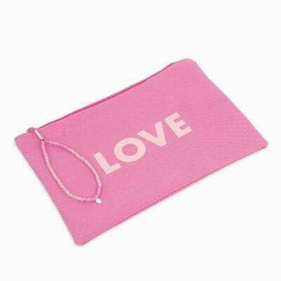 Pochette Love - Fushia/Rose - Palladium