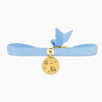 Bracelet Mini Galactique - Bleu Bernadette Clair - Or Jaune