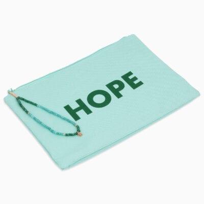 Pochette Hope - Vert/Vert - Or Rose