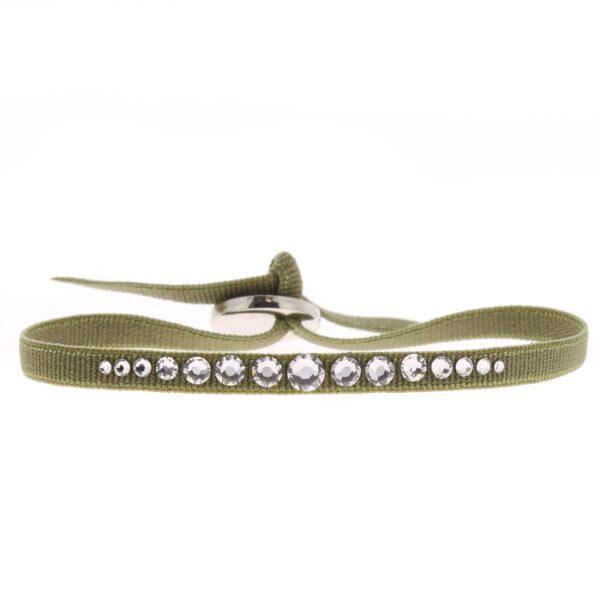 Bracelet Mini Glam 6 - Kaki - Cristal